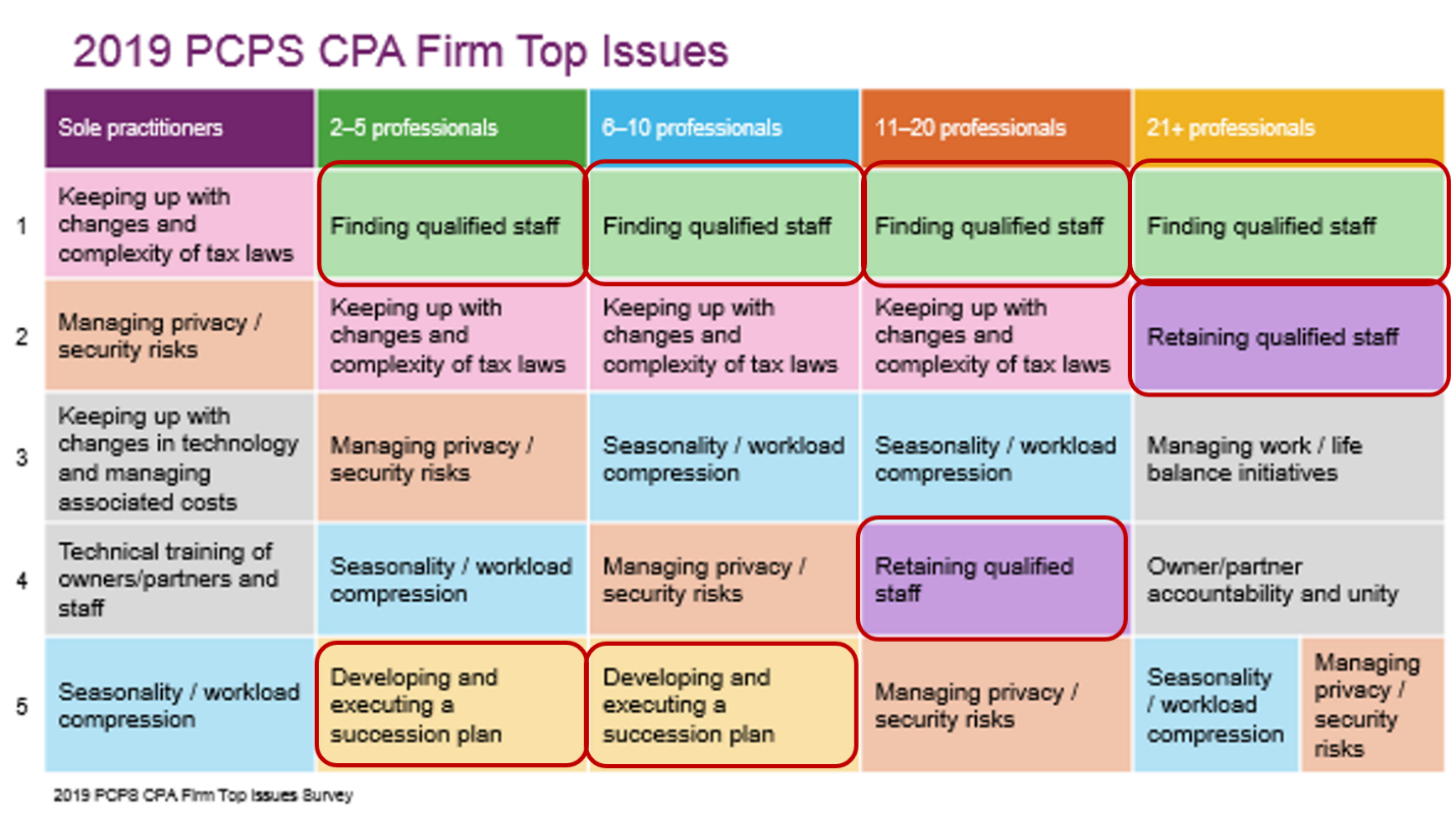2019 PCPS CPA Firm Top Issues