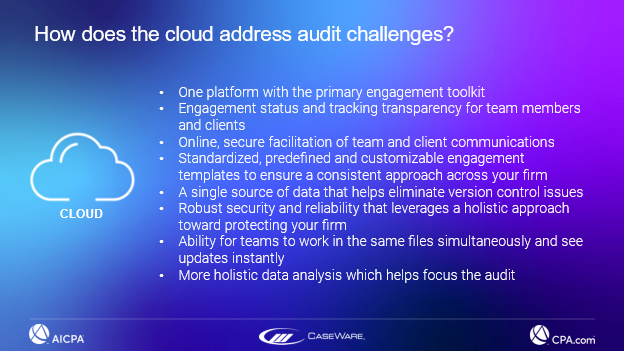 How does the cloud address audit challenges?